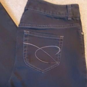 Chicos Platinum Denim Black jeans size 0.5 Reg